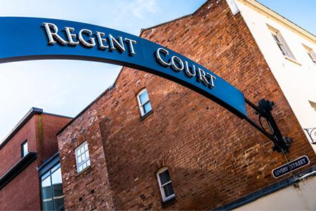 Regent Court - Regent Court Sign